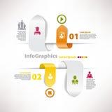 Moderne infographic Schablone für Geschäftsdesign Stockbild