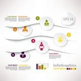 Moderne infographic Schablone für Geschäftsdesign mit Verteilung Lizenzfreies Stockbild
