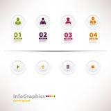 Moderne infographic Schablone für Geschäftsentwurf mit Netzentwurf Lizenzfreie Stockfotos
