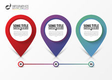 Moderne infographic stappenchronologie Bedrijfs concept Vector royalty-vrije illustratie