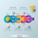 Moderne infographic Wahlfahne lizenzfreie abbildung