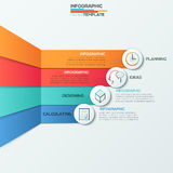 Moderne infographic Wahlfahne vektor abbildung