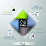 Moderne infographic Wahlfahne stock abbildung