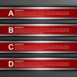Moderne infographic Wahlfahne Vier Schneeflocken auf weißem Hintergrund Lizenzfreie Stockfotos