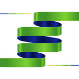Moderne infographic zigzag, stappendocument strookmalplaatje. Royalty-vrije Stock Foto