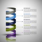 Moderne Infographics-Schablone Stockbilder