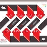 Moderne Infographics-Schablone für Geschäftsentwurf mit Zahlen. Lizenzfreie Stockbilder