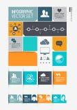 Moderne Infographics-Schnittstelle