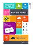 Moderne Infographics-Schnittstelle Stockfoto