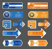 Moderne infographics Wahlfahne Lizenzfreies Stockfoto