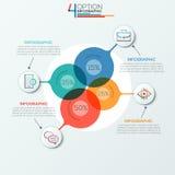 Moderne infographics Wahlfahne lizenzfreie abbildung