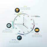 Moderne infographics Wahlfahne Lizenzfreie Stockbilder