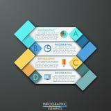 Moderne infographics Wahlfahne stock abbildung