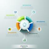 Moderne infographics Wahlfahne vektor abbildung