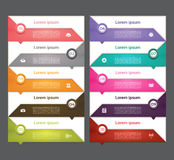 Moderne infographics Wahlfahne Auch im corel abgehobenen Betrag kann für Arbeitsflussplan, Diagramm, Zahlwahlen, Webdesign, pri v Lizenzfreie Stockfotografie