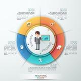 Moderne infographics Wahlfahne mit realistischem Pfeil Vektor Kann für Webdesign- und Arbeitsflussplan verwendet werden stock abbildung