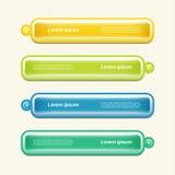 Moderne infographics Wahlfahne. Vektorillustration. kann für Arbeitsflussplan, Diagramm, Zahlwahlen, Webdesign, pri verwendet werd Stockfoto