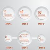 Moderne infographics Zeitachse Designschablone lizenzfreie stockfotografie