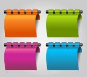 Moderne infographicsvector/nota's /lable voor Web Stock Afbeeldingen