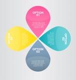 Moderne inforgraphic Schablone Kann für Fahnen, Websiteschablonen und Designe, infographic Poster, Broschüren, Anzeigen verwendet Lizenzfreies Stockbild