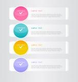 Moderne inforgraphic Schablone Kann für Fahnen, Websiteschablonen verwendet werden und Designe, infographic Poster, Broschüren, A Lizenzfreie Stockfotografie