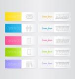 Moderne inforgraphic Schablone Kann für Fahnen, Websiteschablonen verwendet werden und Designe, infographic Poster, Broschüren, A stock abbildung