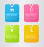 Moderne inforgraphic Schablone Kann für Fahnen, Websiteschablonen verwendet werden und Designe, infographic Poster, Broschüren, A Stockfotos