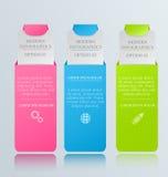 Moderne inforgraphic Schablone Kann für Fahnen, Websiteschablonen verwendet werden und Designe, infographic Poster, Broschüren, A Stockfotografie