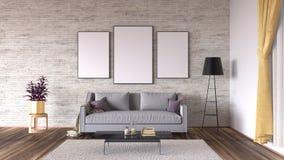 Moderne Innenarchitektur des Wohnzimmers Lizenzfreie Stockbilder