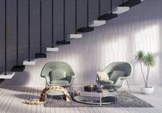 Moderne Innenarchitektur des Wohnzimmers Stockbilder