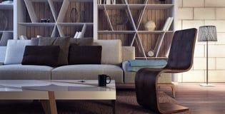 Moderne Innenarchitektur des Wohnzimmers Stockbild