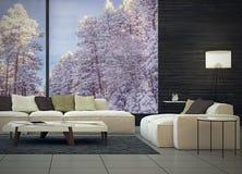 Moderne Innenarchitektur des Wohnzimmers Lizenzfreie Stockfotos