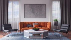 Moderne Innenarchitektur des Wohnzimmers Stockfotos