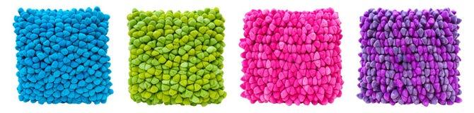 Moderne Innenarchitektur-helle farbige Kissen Stockfotografie