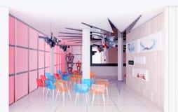 Moderne Innenausstellunghalle Stockfoto