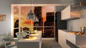 Moderne Innenwohnung Stockfotografie