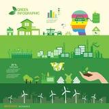 Moderne innovatie en technologieën voor natuurbescherming vector illustratie