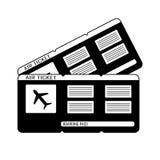 Moderne instapkaart twee van de luchtvaartlijnreis kaartjes Vector vector illustratie