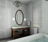 moderne intérieur de conception de salle de bains Photographie stock libre de droits