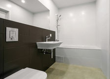 moderne intérieur de salle de bains Images libres de droits