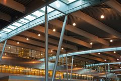 Moderne internationale luchthaventerminal Royalty-vrije Stock Foto