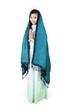 Moderne islamische Mode, voller Körper auf weißem Hintergrund Lizenzfreie Stockfotografie