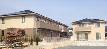 Moderne japanische Solarwohnungen Stockbilder
