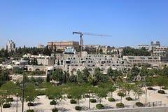 Moderne Jeruzalem en Koning David Hotel Royalty-vrije Stock Afbeelding
