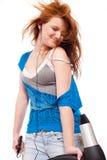 Moderne junge Frau Stockbild