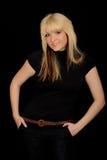 Moderne junge Frau Stockfoto
