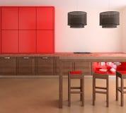 Moderne Küche. Lizenzfreie Stockbilder