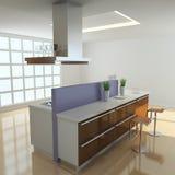 moderne Küche 3d Lizenzfreie Stockbilder