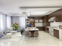 Moderne Küche in einem Privateigentum Lizenzfreies Stockfoto