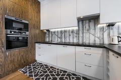 Moderne Küche-Innenarchitektur stockfotografie